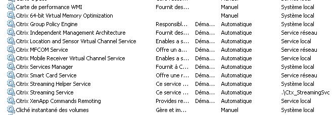 Citrix XenApp 6 5 le service «Citrix XML Service» a disparu