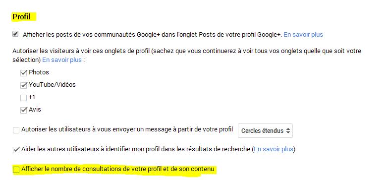 profils google+