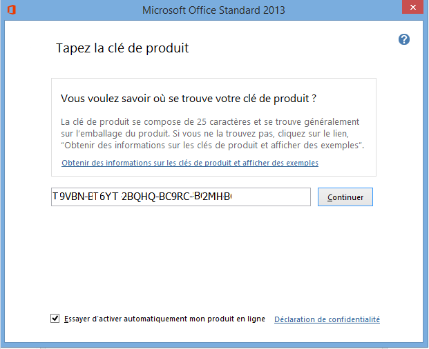 Office 2013 key autos post - Cle activation office pro 2010 ...