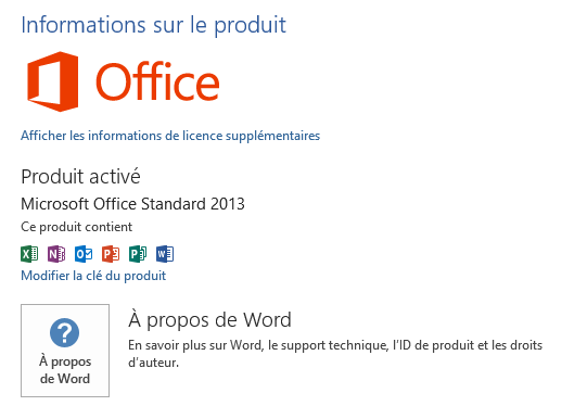 office 2013   modifier la cl u00e9 du pack